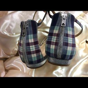 J. Crew Shoes - J Crew Spaghetti Strap Peekaboo Checkered Sandals
